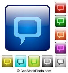 Color comment square buttons
