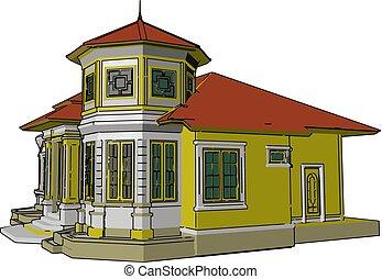 color, componente, ilustración, vector, básico, hogar, o