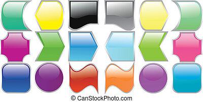 color, computadora, vario, ilustración, iconos