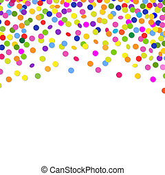 Color Confetti Frame, With Gradient Mesh, Vector...