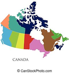 Color contour map of Canada