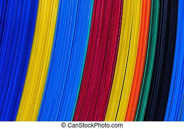 Color corrugated plastic sheets, feature board.