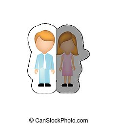 color couple with blond hair icon