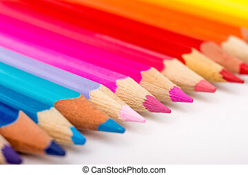 Color Crayons Row