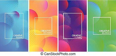 color, creativo, soluciones, fondos, con, burbujas, pattern.