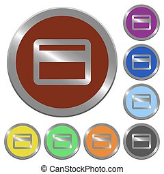 Color credit card buttons