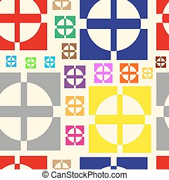 Color crosses in circles and squares