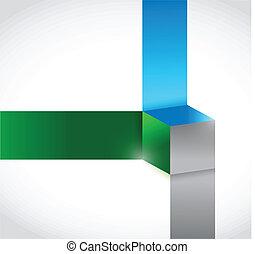 color cubes illustration design