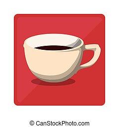 Color cup coffee icon image