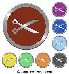 Color cut buttons