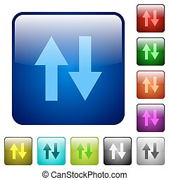 Color data traffic square buttons