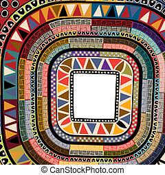 Color decorative frame