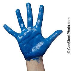 color del arte, mano, pintado, arte, niño
