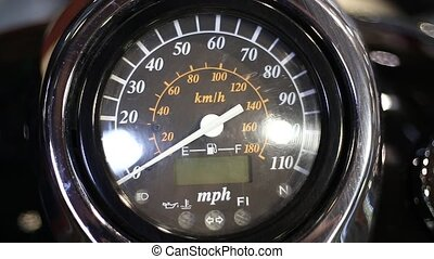color detail speedometer motorcycle with zero indexes HD