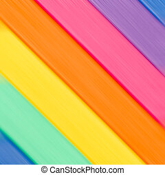 Diagonal lines of color of a rainbow background