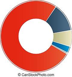 Color Diagram Chart vector illustration