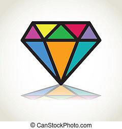 color diamond logo design - illustration