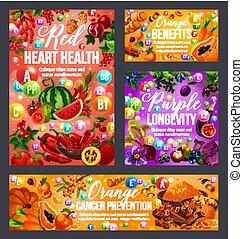 Color diet vegetables, fruits, spices. Healthcare
