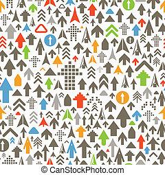 color, diferente, flechas, seamless, plano de fondo