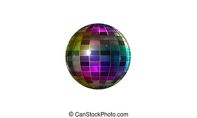 Color disco ball  - Colored disco ball 80`s style