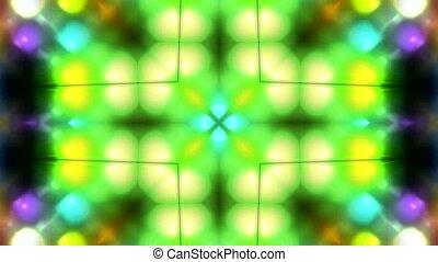 color disco flower pattern