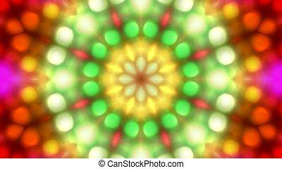 color disco flower pattern, orient fancy texture