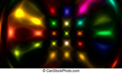 color disco light display