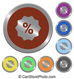 Color discount buttons