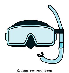 color diving mask style underwater equipment