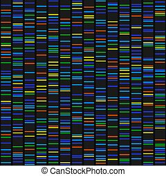 Color Dna Sequence Results on Black Seamless Background. ...