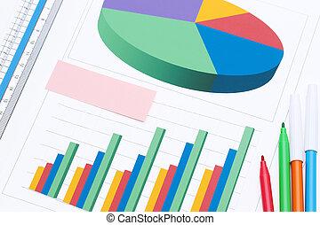 color, documentos, gráfico, impreso