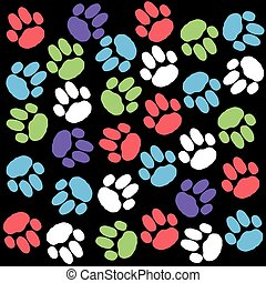Color dog paws background