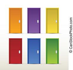 color doors illustration design
