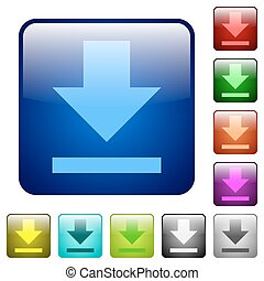 Color download square buttons