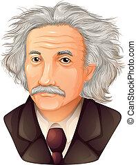 Color Drawing of Albert Einstein