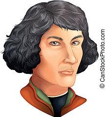 Nicolaus Copernicus - Color Drawing of Nicolaus Copernicus