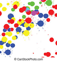 Color drop ink splatter
