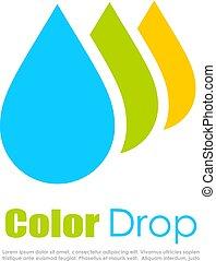 Color drop logo