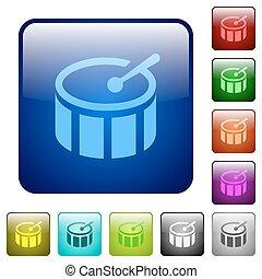 Color drum square buttons