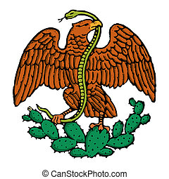 color eagle from mexico