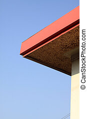 color eaves in blue sky