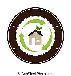 color, eco, marco, circular, hogar