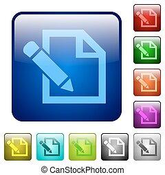 Color edit square buttons