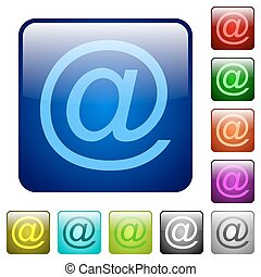 Color email square buttons
