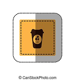 color emblem coffee espresso icon