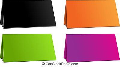 Color empty background for presentation calendar