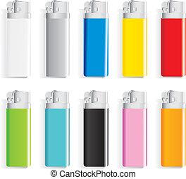 color, encendedores, recuerdo