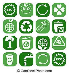 color environmental icon set