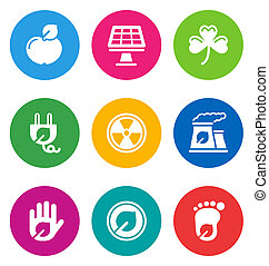 color environmental icons