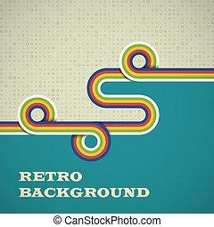 color., eps10., retro, illustrazione, arrotondato, fondo, luminoso, striscie, vettore